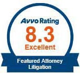 Avvo Rating - Featured Attorney, Litigation